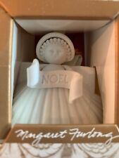 "Margaret Furlong Nib 1988 Retired Noel Angel 4"" Seashell Porcelain Bisque"