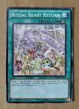 Yugioh Ritual Beast Return Spell Card