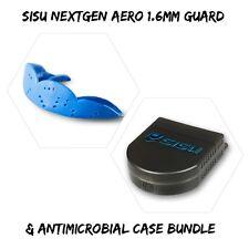 🔥 SISU NextGen AERO Guard 1.6mm Adult Mouthguard (Electric Blue) & Case Bundle