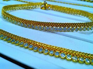 SOLID GENUINE 22KT YELLOW GOLD HANDMADE ANKLET GORGEOUS ANTIQUE ANKLE BRACELET