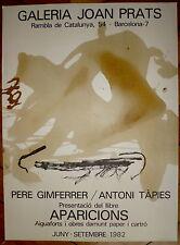 TAPIES Antoni Affiche Lithographie Originale 1982 Tapies Espagne art abstrait