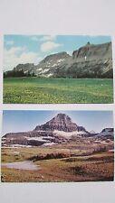 Vintage 1970's Glacier National Park Mt.Reynolds/Logan & Mt.Gould/GardenWall NEW