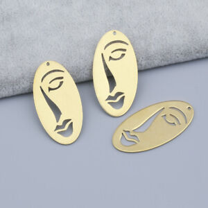 10x Abstract Art Human Face Charms Pendants For Women Jewelry Earrings Making