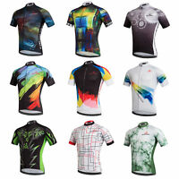 Men's Cycling Jersey Full Zip Cycle Bicycle Biking Jersey Shirt Coolmax S-5XL