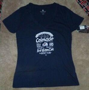 NEW NHL Colorado Avalanche Ice Hockey T Shirt Women Ladies M Medium NWT