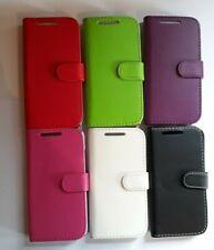 Libro, estilo de Cartera Cuero PU a presión Funda Protectora De Teléfono Para Caber HTC Desire 601