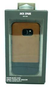 Excellent Condition Jack Spade for Samsung Galaxy S7 Navy/Fulton Tan