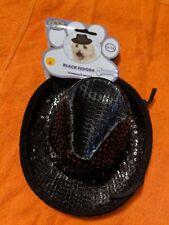 RUBIE'S PET SHOP BOUTIQUE Black Fedora HAT FOR DOG S/M Cowboy Dress Up Halloween