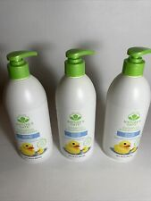 Lot of 3 Natures Gate Nature Baby Baby Shampoo And Wash Paraben Free 18 fl oz
