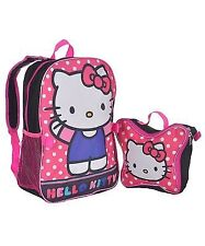 "Hello Kitty ""Polka Dot Party"" Backpack with Lunchbox"