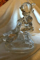 GOEBEL HUMMEL GLASS paperweight figurine statue of goose girl goosegirl crystal