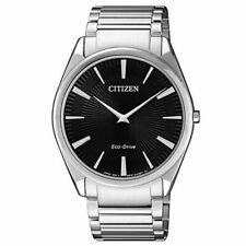Citizen Men's Watch Eco Drive Black Dial Stainless Steel Bracelet AR3071-87E