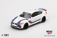 MINI GT 1:64 Mijo Exclusives LB WORKS BMW M4 White W/ M Stripe