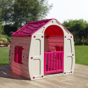 Pink Childrens Playhouse Wendy House Magical Play House By Starplast