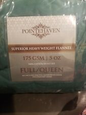 Pointehaven Superior Heavy Weight Flannel Full/ Queen Duvet 175 GSM/ 5 OZ Moss