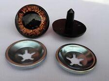 Ojos de seguridad marrón 20 mm para osos de peluche amigurumi juguetes animales