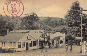 Hopatcong New Jersey Post Office River Stix Business Section 1955 Postcard