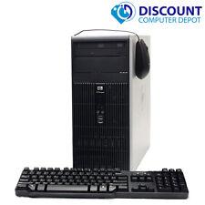 Hp Tower Windows 10 Desktop Computer Pc Dual Core 4Gb 250Gb WiFi Dvd
