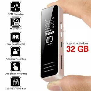32GB Digital Diktiergerät Wiederaufladbare Aufnahmegerät Audio Voice Recorder