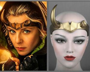 Sylvie Loki Crown Single Horns Halloween Party cosplay PVC 3D simulation Helmet
