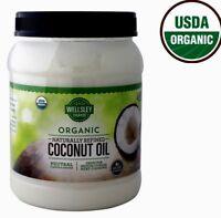 🔥 Wellsley Farms Coconut Oil Naturally Refined 100% USDA Organic, 56 FL. OZ.
