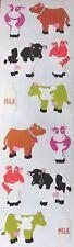 2 Strips Mrs Grossman . Cows Chubby . 2007 Stickers