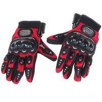 Breathable Motor Sports Motorcycle Motorbike Riding Armor Gloves Polyester Bla C