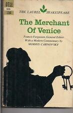THE MERCHANT OF VENICE ~ DELL LAUREL SHAKESPEARE 5578 1967 8TH com M. CARNOVSKY