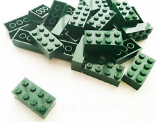 LEGO BRICKS 100 x DARK GREEN 2x4 Pin -From Brand New Sets Sent in a Clear Sealed