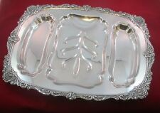 Wallace SIR CHRISTOPHER Large 3 Part Footed Meat Platter Tray