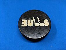 VINTAGE WHA JELINEK X-100 REVERSE BIRMINGHAM BULLS CZ3 SLUG GAME PUCK 1976-77