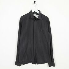 Vintage D&G Striped Long Sleeve Shirt Black | Medium M