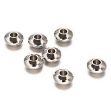 100× Round 304 Stainless Steel Bead Spacer Loose 6x3mm Jewelry Finding Craft DIY