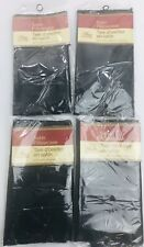 "4 Pillowcases Silky Satin Cases-Black-Standard Set-20""x30""-NEW"