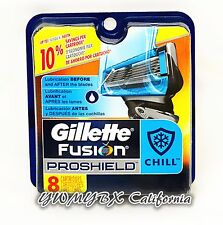 Gillette Fusion PROSHIELD CHILL Refill 8 Cartridges*Original Package* #019
