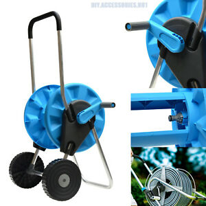 Hose Reel Cart Trolley Portable Garden Hosepipe Water Outdoor Pipe Freestanding