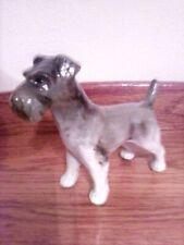 "Vintage, Made in Japan Schnauzer Dog Figurine, 4 3/4"" High 5 1/2"" Long"