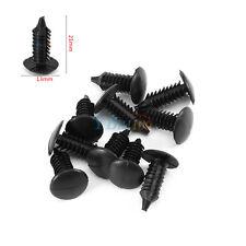 Universal 100x Black Nylon Rivet Fastener Bumper Retainer Plastic Clips for car
