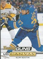 2019 19-20 UPPER-DECK SERIES 2 YOUNG GUNS UD CANVAS BLUES KLIM KOSTIN #C233