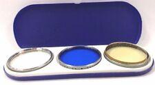 Vintage Kenko Optical Filter Set of 3 Series VI Fits Leica Len 38mm Blue Uv