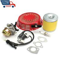Recoil Pull Start Carburetor Ignition Coil Kit For Honda GX340 11HP GX390 13HP