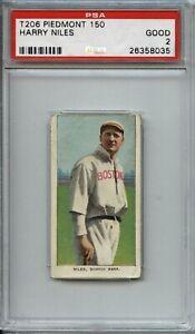Harry Niles 1909-11 T206 - Piedmont 150/25 - PSA 2