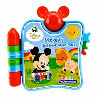 Disney Mickeys First Book Of Animals Lights Sounds Electronic Baby Clementoni