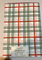 Vintage Saks Fifth Avenue Holiday Squares Tablecloth Linen 52x52 Vintage NIP
