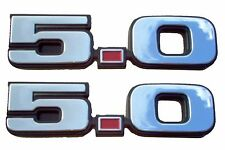 1979-1993 MUSTANG 5.0 CHROME EMBLEM SET OF TWO