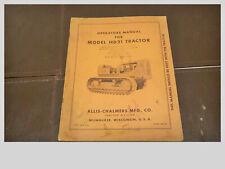 Tm 105 Allis Chalmers Hd 21 Tractor Operators Manual U S A Tractor Divisi