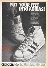 1975 Adidas Superstar & Tournament Basketball Shoe Vintage Print Advertisement