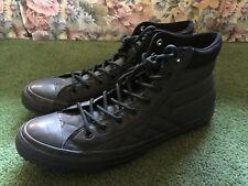 8667a69615129a MENS CONVERSE CHUCK TAYLOR ALL STARS BLACK LEATHER HIGH TOP SHOES SIZE 13