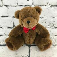 Pro Flowers Teddy Bear Plush Brown Red Bowtie Sitting Stuffed Animal Soft Toy