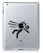 APPLE SMACK LOGO. Apple iPad Mac Macbook Sticker Vinyl decal. Custom colour